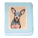 Miniature Pinscher baby blanket