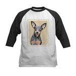 Miniature Pinscher Kids Baseball Jersey