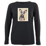 Miniature Pinscher Plus Size Long Sleeve Tee