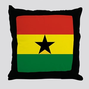 Flag: Ghana Throw Pillow