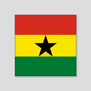 "Flag: Ghana Square Sticker 3"" x 3"""