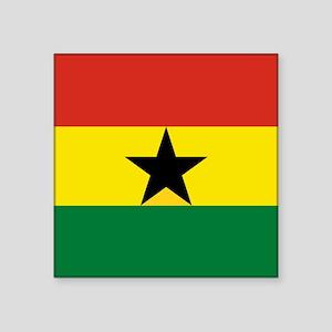 "Flag: Ghana Square Sticker 3"" x 3"""