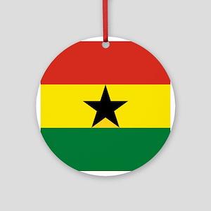 Flag: Ghana Round Ornament