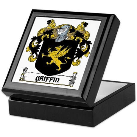 Griffin Coat of Arms Keepsake Box