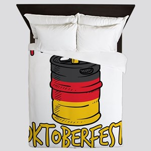 I'd Tap That Germany Oktoberfest B Queen Duvet