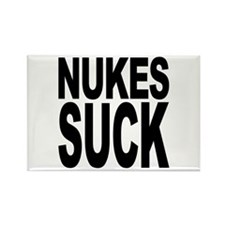 Nukes Suck Rectangle Magnet (100 pack)