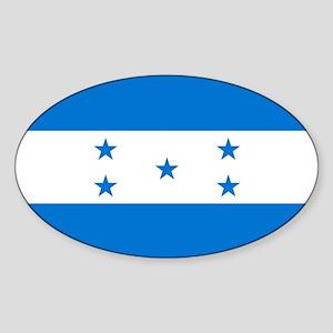 Flag: Honduras Sticker (Oval)