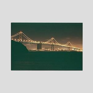 San Francisco Bay Bridge Rectangle Magnet