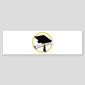 Class of 2019 - Grad Cap Diploma Go Bumper Sticker
