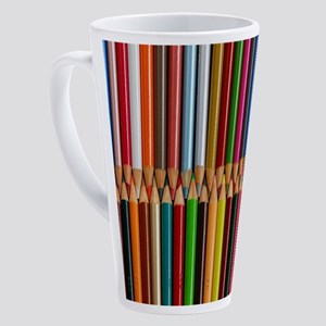 Colorful pencil crayons 17 oz Latte Mug