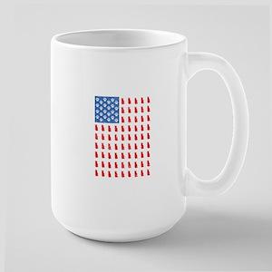 Distressed Patriotic Cat Shirt for Men Women Mugs