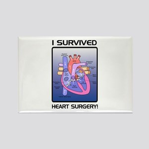I Survived Heart Surgery! 2 Rectangle Magnet