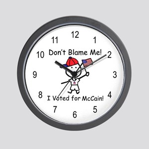 Don't Blame Me - McCain Wall Clock