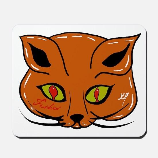 """""""Humor...cat"""" Mousepad"""