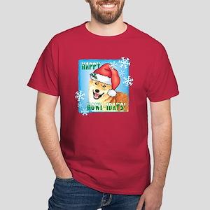 Holiday Shiba Inu Dark T-Shirt