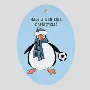 Soccer Christmas Ornament Oval Ornament