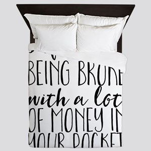 Inflation: Being broke with a lot of m Queen Duvet