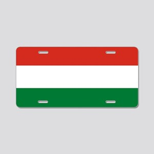Flag: Hungary Aluminum License Plate