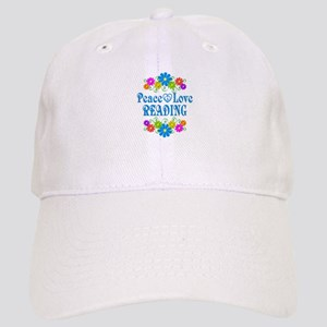 Peace Love Reading Cap