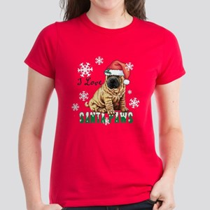 Holiday Shar-Pei Women's Dark T-Shirt