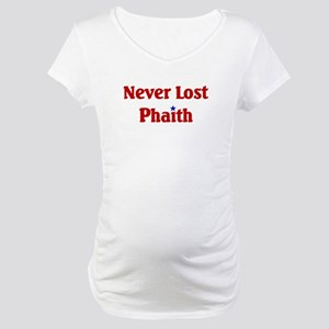 Never Lost Phaith Maternity T-Shirt