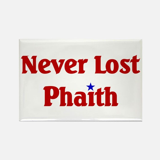 Never Lost Phaith Rectangle Magnet