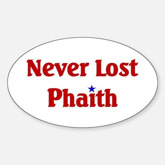 Never Lost Phaith Oval Decal