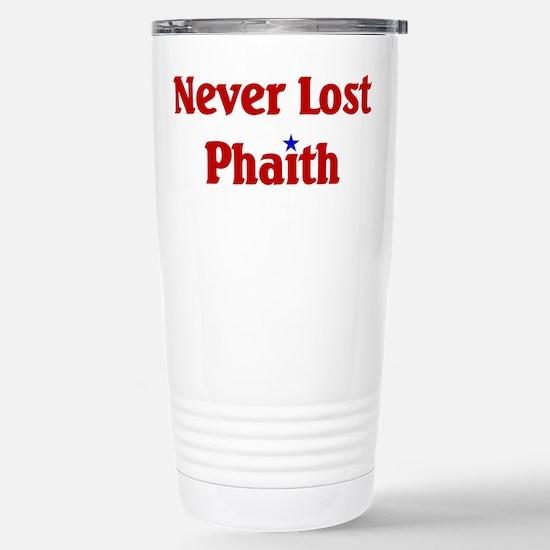 Never Lost Phaith Stainless Steel Travel Mug