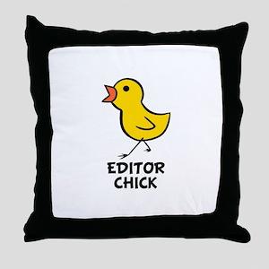 Editor Chick Throw Pillow