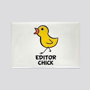 Editor Chick Rectangle Magnet
