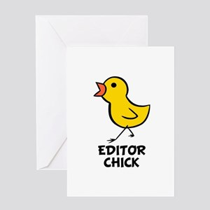 Editor greeting cards cafepress editor chick greeting card m4hsunfo