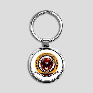 Korean War Veteran Round Keychain Keychains