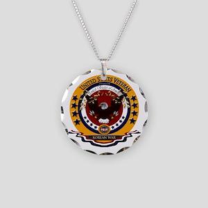 Korean War Veteran Necklace Circle Charm