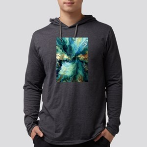 Abstract Blue Oil Painting Fra Long Sleeve T-Shirt