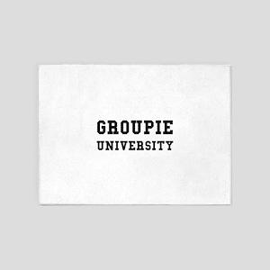 Groupie University Funny 5'x7'Area Rug