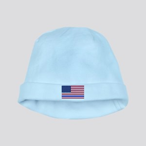 I support Law Enforcement American Flag Baby Hat