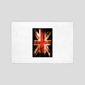 British UK Flag Grunge Vintage 4' x 6' Rug
