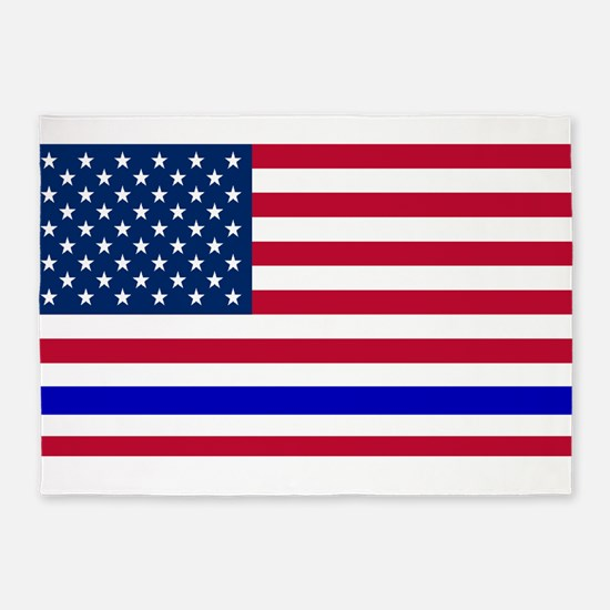 I support Law Enforcement American 5'x7'Area Rug