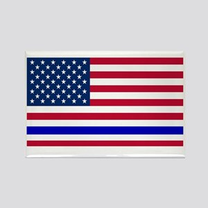 I support Law Enforcement America Rectangle Magnet