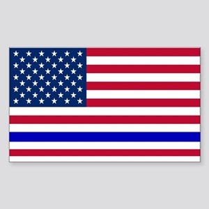 I support Law Enforcement Amer Sticker (Rectangle)