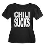 Chili Sucks Women's Plus Size Scoop Neck Dark T-Sh