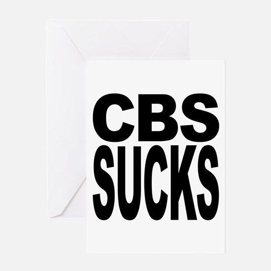 CBS Sucks Greeting Card