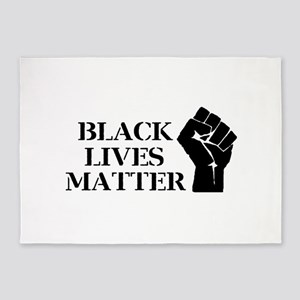 Black Lives Matter - Raised Clenche 5'x7'Area Rug