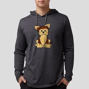 Cute Yorkie Dog Cartoon Long Sleeve T-Shirt