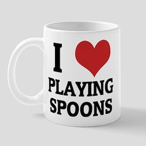 I Love Playing Spoons Mug