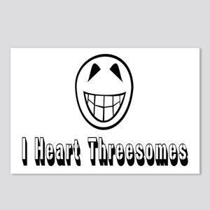 I Heart Threesomes Postcards (Package of 8)