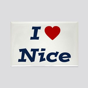 I HEART NICE Rectangle Magnet