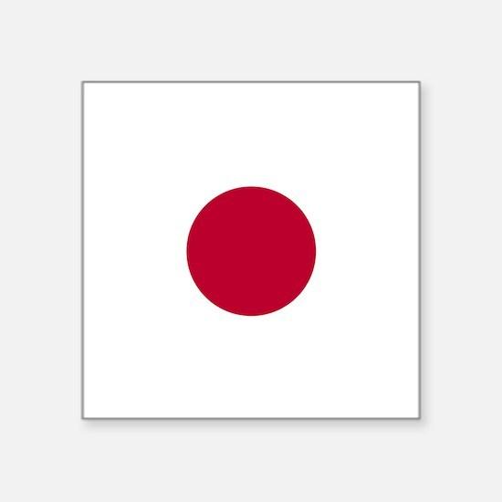 "Flag: Japan Square Sticker 3"" x 3"""