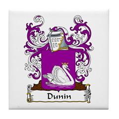 Dunin Family Crest Tile Coaster