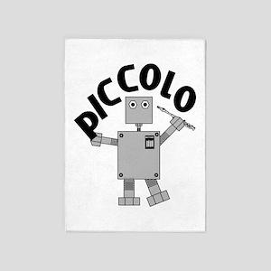 Piccolo Robot Text 5'x7'Area Rug